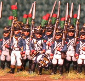 15mm, Napoleonic French Fusilier Chasseurs (Pre 1810) AB 24 fig